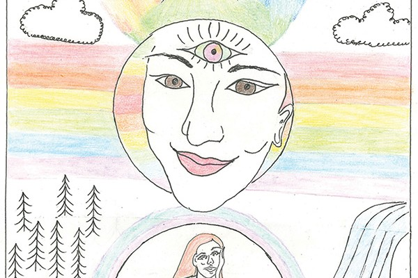 Cover of the Youth Health Prompt titled: mind body spirit